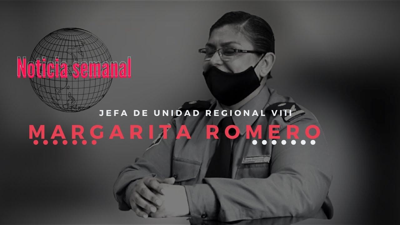 Jefa de la Unidad Regional VIII  Margarita Romero.