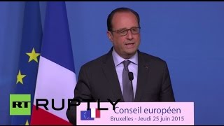 LIVE: Hollande speaks following France factory attack