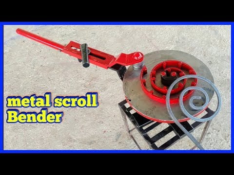 window grill design metal scroll bending tools | making a amazing diy in india ||