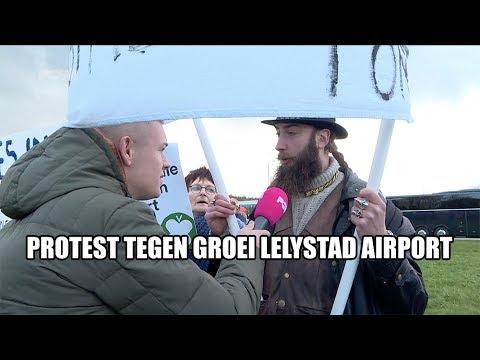 Protest tegen groei Lelystad Airport
