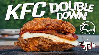 KFC'S DOUBLE DOWN SANDWICH....BUT HOMEMADE & WAY BETTER! | SAM THE COOKING GUY 4K