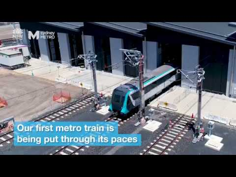 Sydney Metro: train testing starts