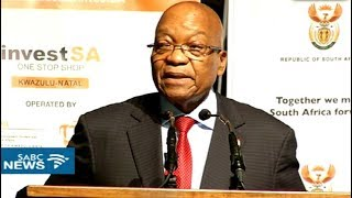 President Zuma launches InvestSA One Stop Shop in Durban thumbnail