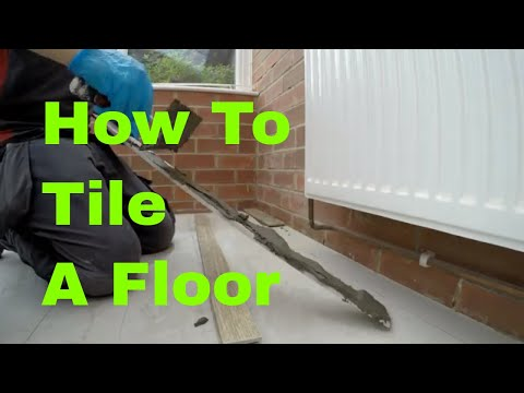 How to set floor tiles ceramic and Porcelain