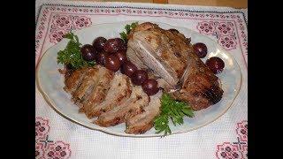 Индейка запечённая в фольге / Бедро индейки со сливами  / Індичка зі сливами/ Рецепт блюда