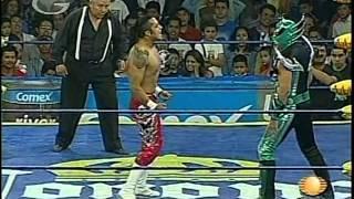 AAA: Aero Star, Súper Fly, Laredo Kid vs. Billy Boy, Decnnis, Tito Santana, 2009/07/12
