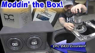 "Moddin' The Box (2) DC Audio 10"" Subwoofers Ported Enclosure + EPIC BASS Excursion!"