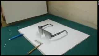 How To Draw Amazing 3D Eyeglasses