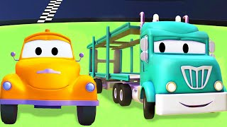 Tow Truck for kids -  The Car Carrier - Tom The Tow Truck in Car City