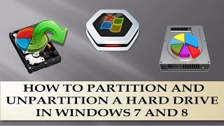 How to Partition a hard drive in windows 7 ,8 & Vista?