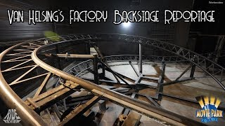 Movie Park Germany - Backstage Indoor Coaster  - Van Helsing's Factory - english subtitles