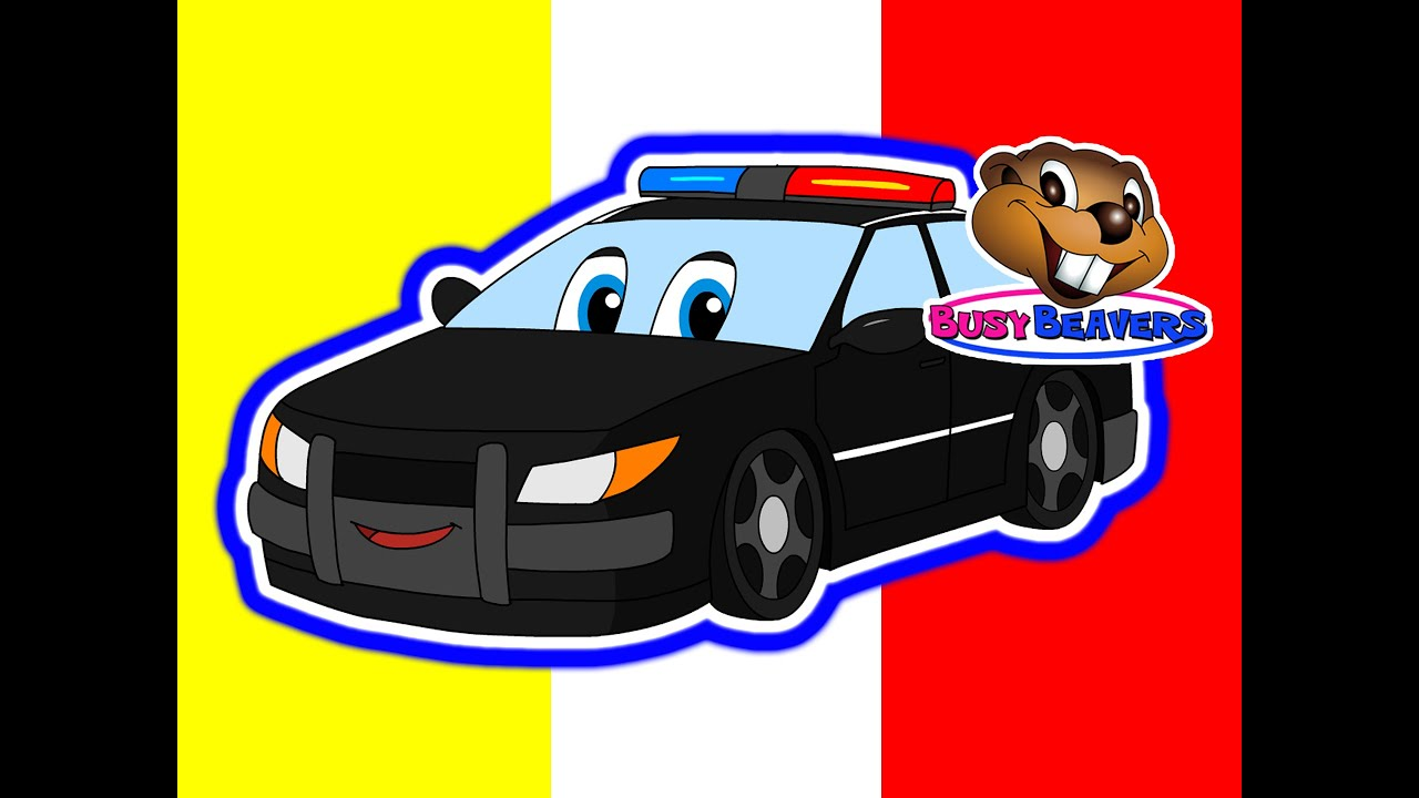 counting police cars numbers 123s childrens learning video teach kids counting 1234