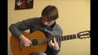 """""""Обійми мене"""" (С.Вакарчук) соло кавер на гитаре В.Трощинков   уроки гитары Киев и Скайп"""