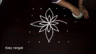 easy rangoli designs with 5x5 straight dots || muggulu designs || kolam