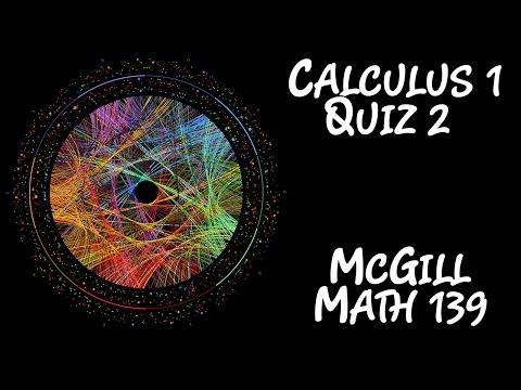 [Calculus 1] McGill Math 139 - Quiz 2