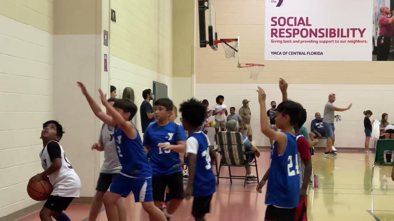 Ryan plays basketball
