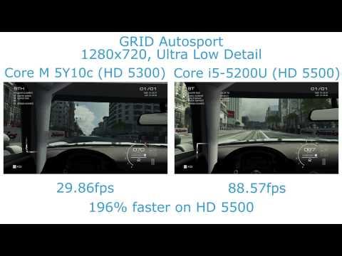 Intel Broadwell Gaming Showdown - Core M vs. Core i5 - HD 5300 vs. HD 5500