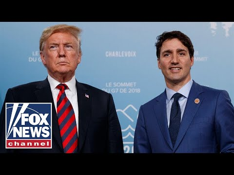 Trump meets with Canadian PM Trudeau at NATO summit
