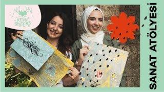 Ebru Sanatı Nasıl Yapılır ? // Keşif Sister ile Sanat Atölyesinde Ebru Yapımı