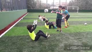 Altyapı kaleci çalışmaları.Fenerbahce spor Okulları