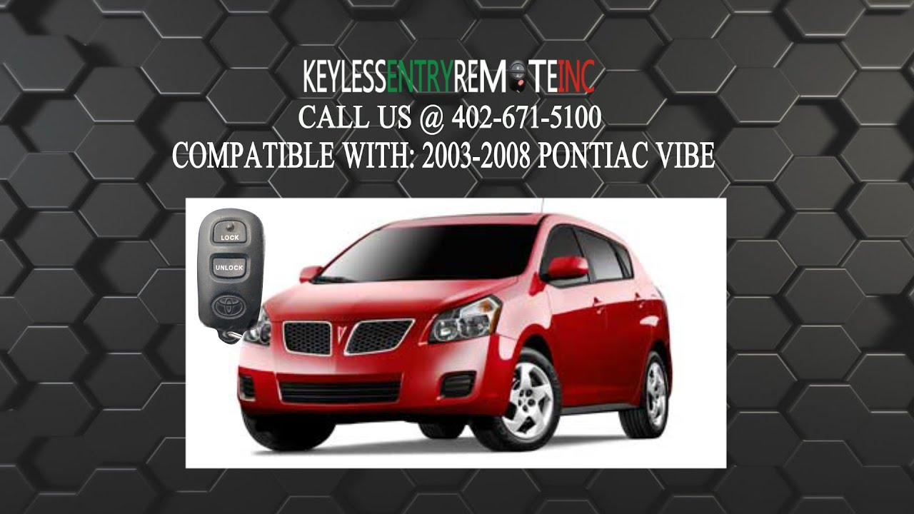How To Replace Pontiac Vibe Key Fob Battery 2003 2004 2005 2006 2007 2008