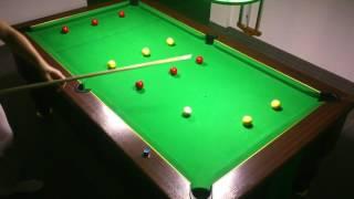10ème Exercice billard 8 pool anglais blackball(4 lignes (ligne 2 et 3 dans les poches du milieu)