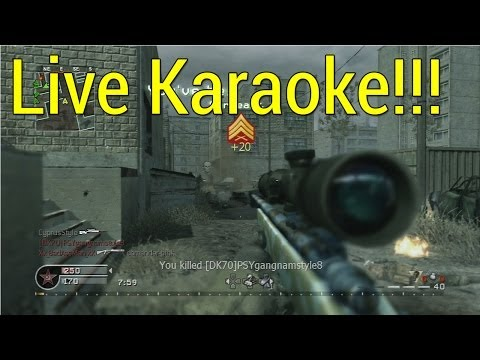 Live Karaoke! (Call Of Duty 4 - Live)