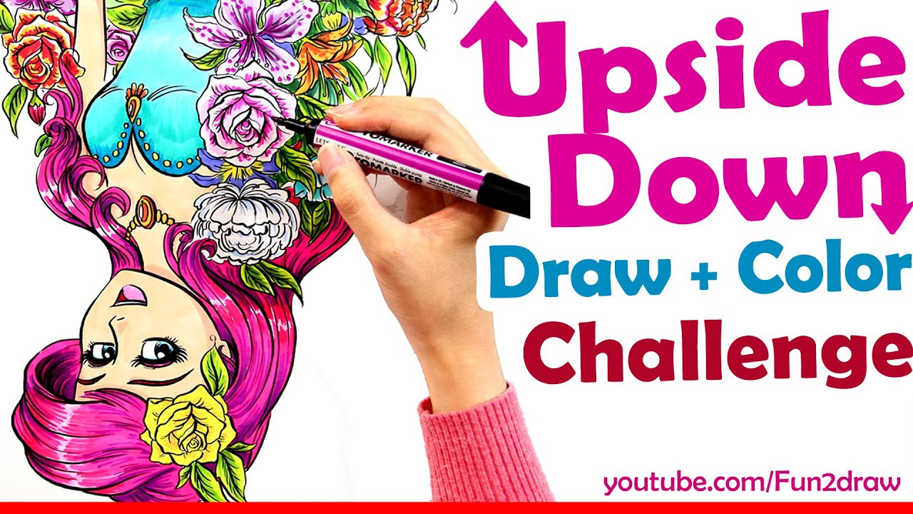 Upside Down Art Art Challenge Draw Color Upside Down Art Channel Fun2draw