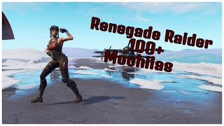 SHOWING THE RENEGADE RAIDER SKIN & 100 + BACKPACKS | FORTNITE