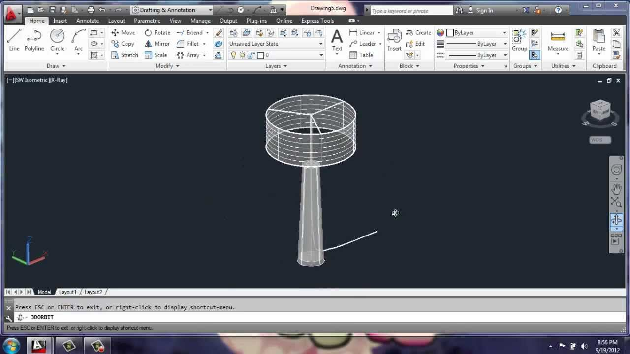 Table Lamp Drawing Design