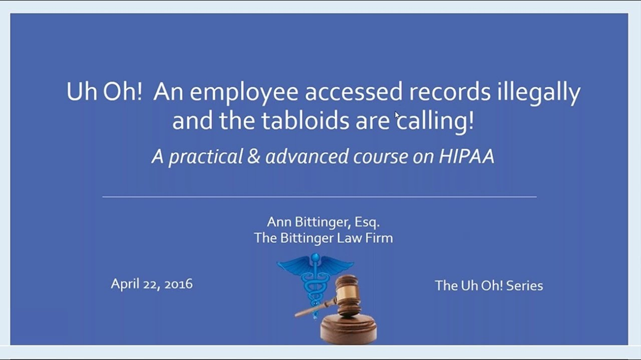 Oh Law Firm >> Uh Oh An Employee Accessed Records Illegally And The Tabloids Are Calling The Bittinger Law Firm