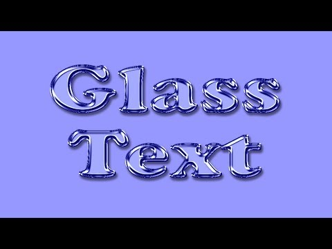 Photoshop Text Effects | How To Create Glass Text Effect In Photoshop | By Leena Jain