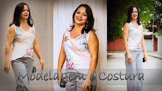 Modelagem e Costura: Como fazer Blusinha de Cetim no Viés