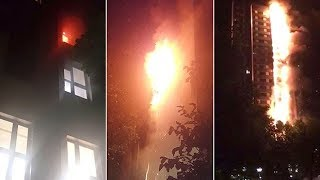 How the Grenfell Tower fire spread