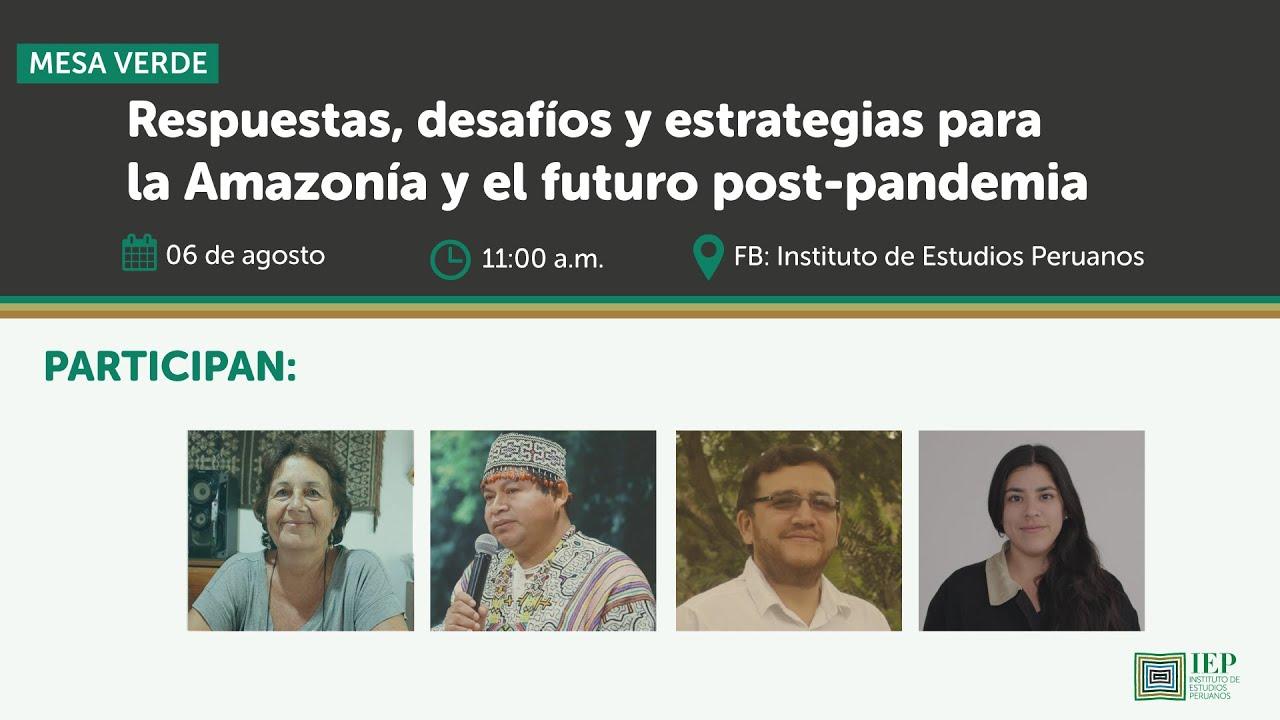 MV: Respuestas, desafíos y estrategias para la Amazonía y el futuro post pandemia