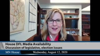 House DFL Media Availability  8/12/20