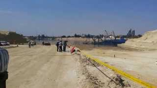 New Suez Canal: a scene in drilling October 25, 2014