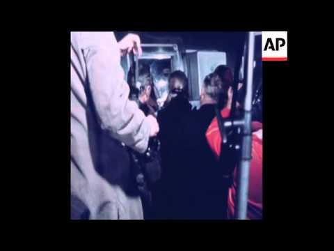 SYND 13/02/1971APOLLO 14 CREW ARRIVE IN HOUSTON IN QUARANTINE VAN