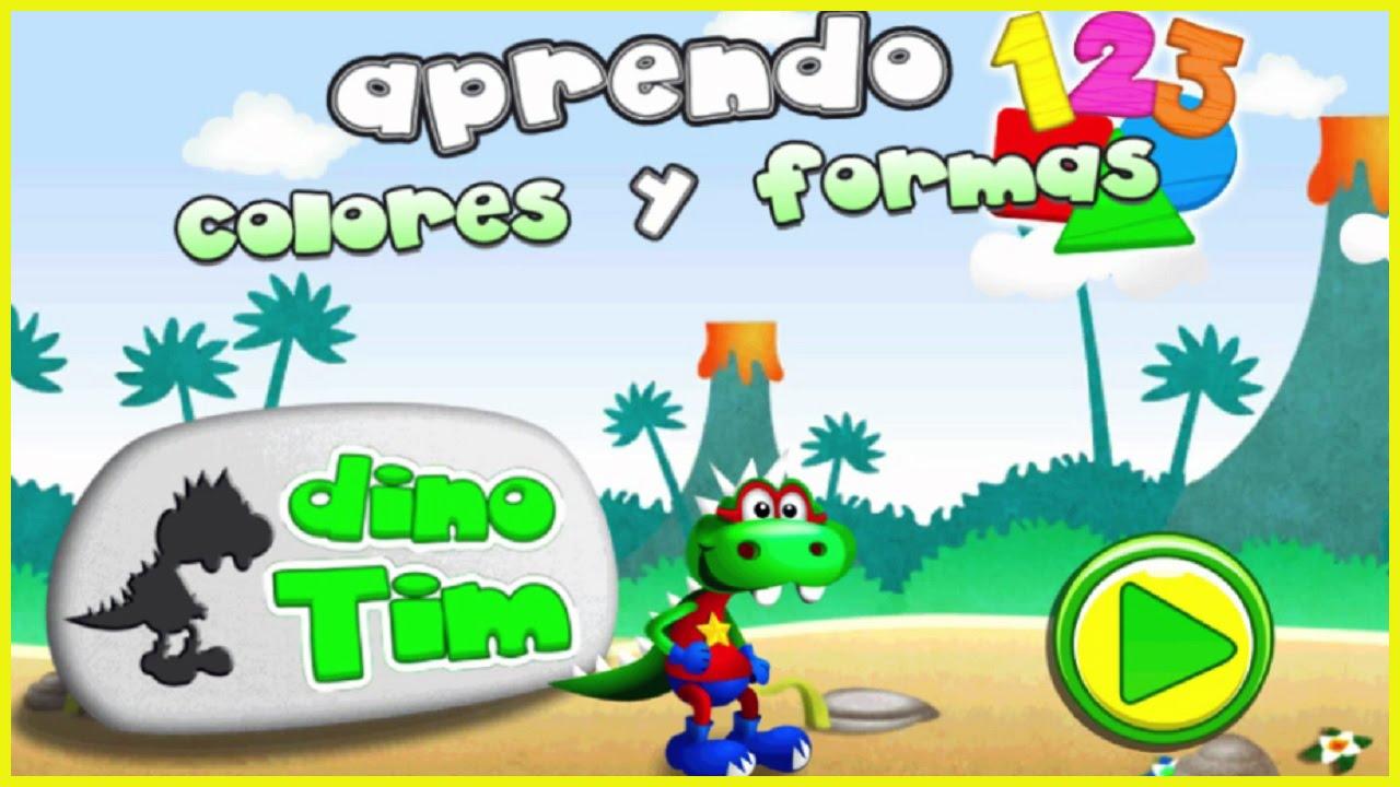 Dino Tim Videos Infantiles Aprender Formas Letras Y Numeros Juegos Para Niños Youtube