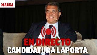 EN DIRECTO: Laporta presenta su candidatura a la presidencia del FC BARCELONA