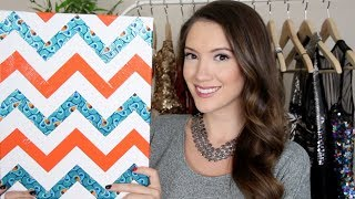 DIY Chevron Canvas + Giveaway! | Blair Fowler Thumbnail
