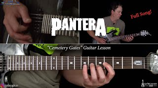 Pantera - Cemetery Gates Guitar Lesson (Full Song)