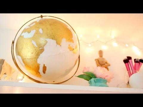 Diy Gold Globe Make Over