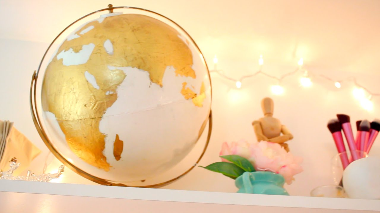Diy gold globe make over youtube diy gold globe make over gumiabroncs Image collections