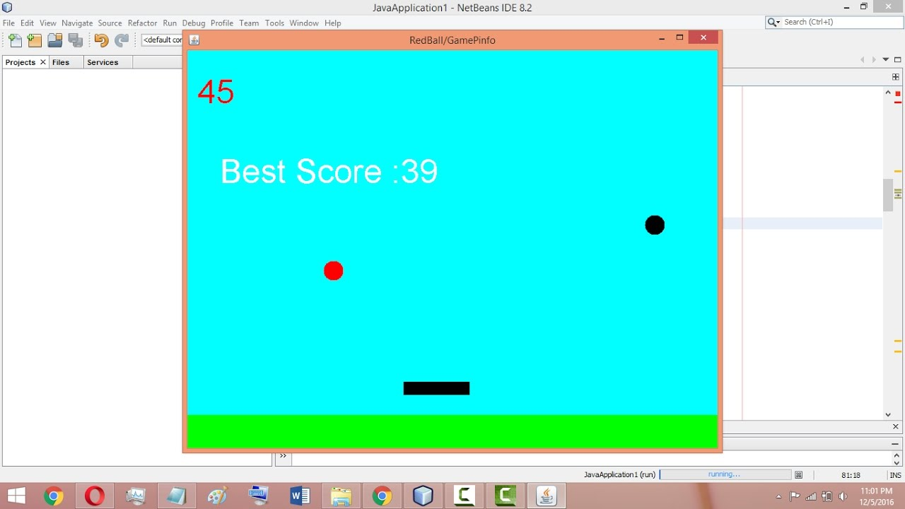 Core Java mini Project | Bounce Ball Game with source code free download