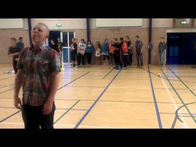 Festaften og konkurrencer med eleverne