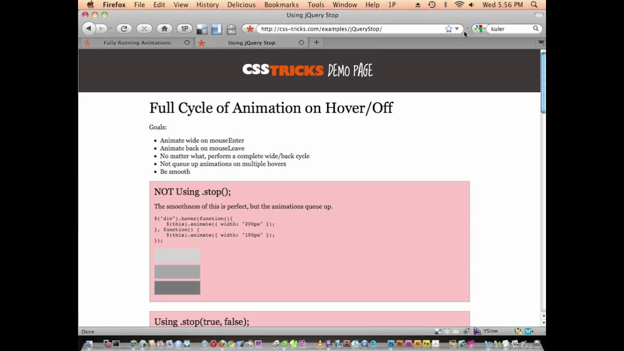 79: Complete/Non-Queuing Animations with jQuery   CSS-Tricks