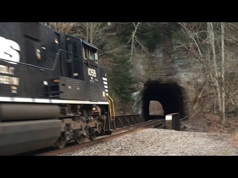 Closed NS West Virginia Secondary! One Of The Final Trains!