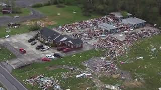 Drone footage of the easter 2020 tornado in boaz, alabama. praying for my hometown.
