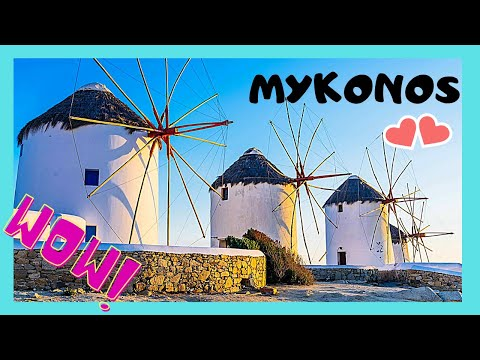 Island of MYKONOS (ΜΥΚΟΝΟΣ), what to see in 2 days, TOP ATTRACTIONS (GREECE)